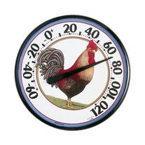AcuRite 01733 12.5-Inch Wall Thermometer, Rooster