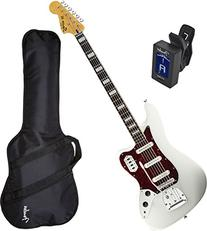 Squier 0305600505 Vintage Modified Bass VI, Olympic White w