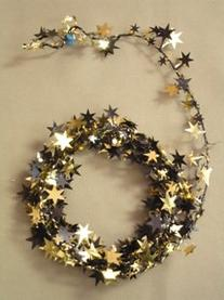 Party Deco 04529 12 ft. Black and Gold Stars Wire Garland -