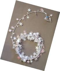Party Deco 04549 9 ft. Iridescent White Stars Wire Garland