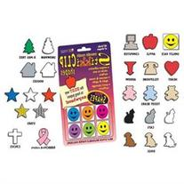 StikkiWorks 05837 Stikkiclip Shapes 6-Card - Star-Mixed-Red-
