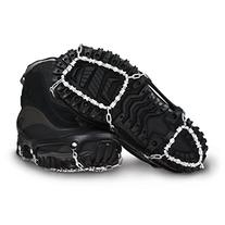 ICETrekkers Diamond Grip Traction Cleats, Large , Black
