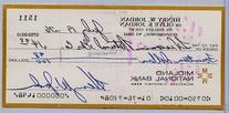 07/19/1976 Personal Check Henry Jordan Browns Autographed