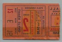 09/16/1960 New York Titans Ticket Stub Patriots  Versus
