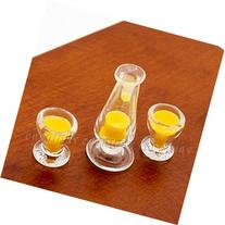 Odoria 1:12 Miniature Food 3PCS Mango Juice and Pudding Cup