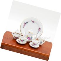 Odoria 1:12 Miniature 8PCS Porcelain Tea Cup Set with Rose