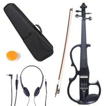 Cecilio 3/4 CEVN-2BK Solid Wood Electric/Silent Violin with