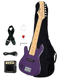 "1/2 Half Size Kids Purple 30"" Inch Electric Guitar and"