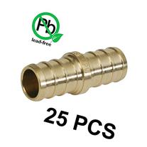 1/2  PEX Barb Straight Coupling - Brass Crimp Fitting - Pack