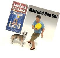 New 1:24 FIGURE - MAN AND DOG 2 PIECE FIGURE SET By American