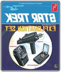 Retro 1/3 Star Trek Exploration Set 3 Model Set w/Phaser,