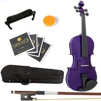 Mendini 1/2 MV-Purple Solid Wood Violin with Hard Case,