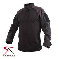 Rothco 1/4 Zip Combat Shirt, Black, Medium