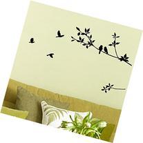 Birds Flying Black Tree Branches Wall Sticker Vinyl Art
