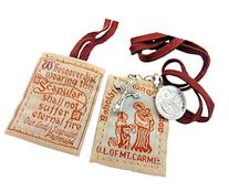 "1 X Brown Scapular - ""Behold the Sign of Salvation"