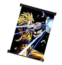 1 X Dragon Ball Z Super Saiyan Goku Anime Fabric Wall Scroll