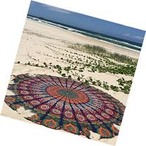 Labhanshi 1 X Indian Mandala Round Roundie Beach Throw