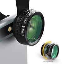 AUKEY Optic iPhone Lens, 180° Fisheye Lens + 110° Wide