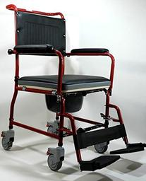 MedMobile 3-in-1 Commode Wheelchair Bedside Toilet & Shower