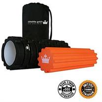 King Athletic 13-Inch 2-in-1 Foam Roller for Muscles Fitness