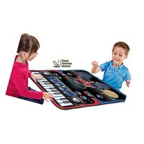 2-in-1 Functional Drum & Piano Foldable Music Mat with 5