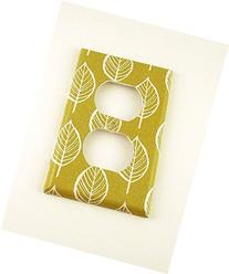1 Gang Outlet Lightswitch Plate Olive and Leaves