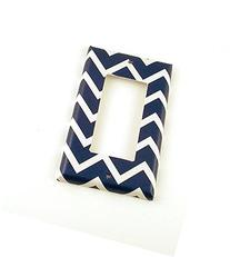 1 Gang Rocker Decora Switch Plate, Navy Chevron