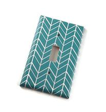 1 Gang Single Toggle Switch Plate, Wall Plate, Turquoise