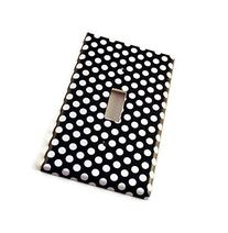 1 Gang Toggle Light Switch Cover , Polka Dots Rock