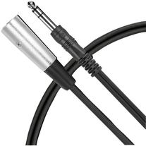 """Live Wire 1/4"""" Male to XLR Male Patch Cable 3 Foot"""