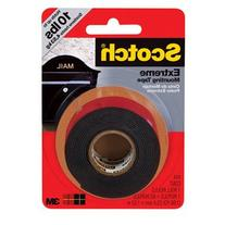 3M Scotch Extreme Mounting Tape, 1 by 60-Inch, Black