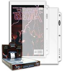"100ct BCW 1-Pocket Comic Magazine Storage Binder Pages  7"" X"