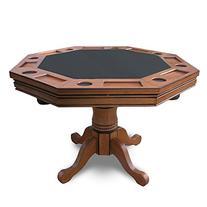 Hathaway 3-in-1 Poker Table, Dark Oak