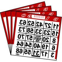 1 ON Red Paper Bingo Cards