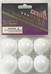 Halex 1 Star 6-Pack Table Tennis Ball, White