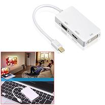 Soondar 3 in 1 Thunderbolt Port Mini Displayport To HDMI DVI