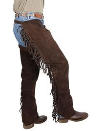 Tough-1 Western Fringed Chaps, Brown Medium