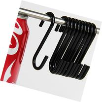 """10 Pack 2 3/4"""" Inches S Shape Black Finish Steel Hanging"""