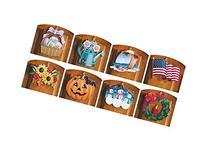 10 Piece Set Multi Holiday Interchangeable Seasonal Welcome