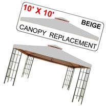 10' X 10' Gazebo Replacement Canopy Top Cover - Beige,