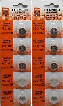 10 CR1225 Thermometer Batteries By Loopacell