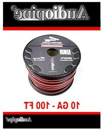 100 ft 10 gauge awg Red Black Stranded 2 Conductor Speaker