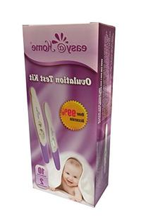 Easy@Home 10 Ovulation Test and 2 Pregnancy Test Sticks -