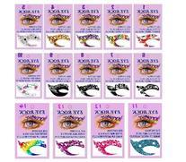 Hitece 10 paires Temporary Eye Tattoo Transfer Eyeshadow