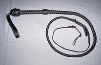 4 Foot 10 Plait BLACK Bullwhip Real Leather BULLWHIP BULL