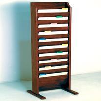 Wooden Mallet 10-Pocket Free-Standing File Holder, Legal