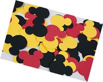 100 Black Red & Yellow Mickey Confetti, Paper Mickey Mouse