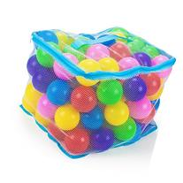 100 Jumbo 3 in Multi-Colored Soft Ball Pit Balls with Mesh