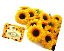 Silk Yellow Sunflowers sun Flower Heads , Gerber Daisies -