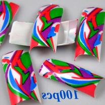 100 Artistic Design False French Nail Art Tips by 350buy